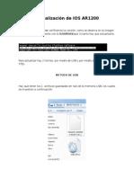 Actualizacion de IOS AR1200