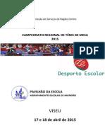 Ténis Mesa Regional 2015