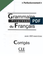 Grammaire Progressive Perfectionnement Corriges 2012