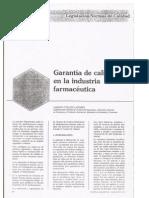 Garantía de Calidad en La Industria Farmacéutica