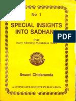 Special Insights Into Sadhana - Swami Chidananda