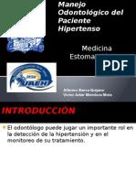 Manejo Odontológico Del Paciente Hipertenso