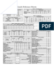 3rd Generation Quick Reference Sheet