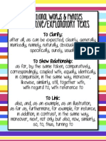 Expository Transitions List