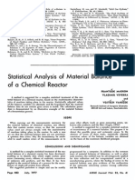 AIChE Journal Volume 23 Issue 4 1977 [Doi 10.1002%2Faic.690230412] FrantisД›k Madron; Vladimir Veverka; VojtД›Ch VanД›ДЌek -- Statistical Analysis of Material Balance of a Chemical Reactor