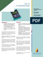Acterna EDT-135 E1 and Data Tester Data Sheet