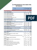Calculo de Presupuesto Afectado Por Metrados