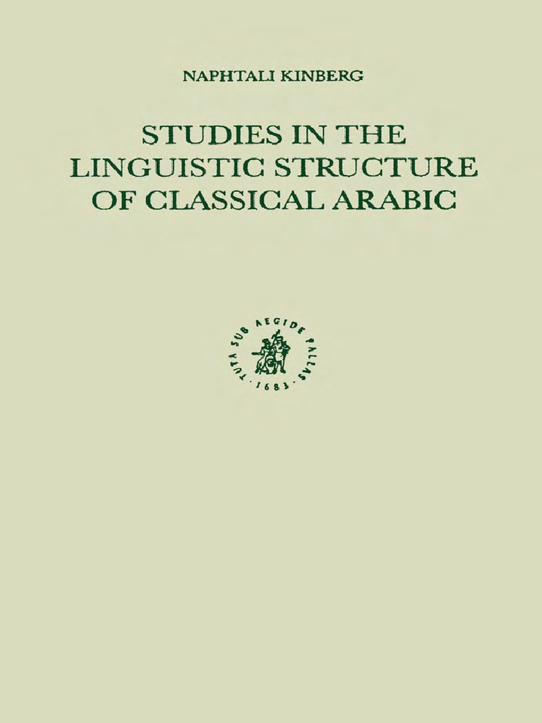 save off 679f4 6378d  Kingberg  Studies in Linguistic Structure of Classical Arabic (1)    Preposition And Postposition   Hebrew Language