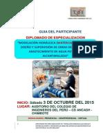 Modelación Hidráulica, Diseño y Supervisión de Obras Del Sistema de Abastecimiento de Agua y Alcantarillado (Final)