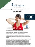 Microfonia - Adorando