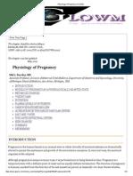 Physiology of Pregnancy _ GLOWM