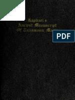 Raphael s Ancient Manuscript of Talismanic Magic