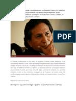 A La Par de Rechazar El Hábeas Corpus Interpuesto Por Alejandro Toledo