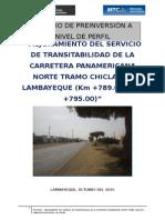 Perfil Mejoramiento Del Servicio de Transitabilidad Carretera