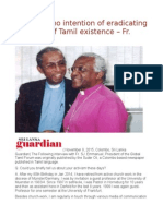Govt. Has No Intention of Eradicating the Roots of Tamil Existence – Fr. Emmanuel