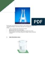 Alat-Alat Laboratorium Yang Terbuat Dari Plastik Dan Kaca