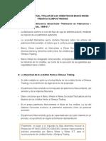 Análisis Del Actual Titular de Los Créditos de Banco Wiese Frente a Olimpus Trading