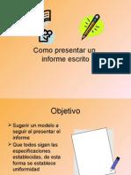 Como Presentar Un Informe e 2ss