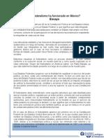 ¿El Federalismo Ha Funcionado en México