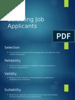 Selecting Job Applicants