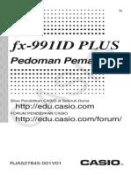 CASIO FX-991ID Plus Manual Bahasa Indonesia
