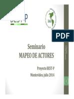 Seminario Mapa de Actores 16-7-2014.