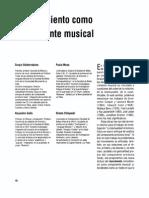 El Movimiento Como Componente Musical