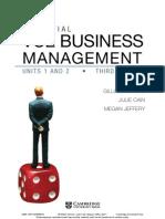 VCE BUSINESS MANAGEMENT