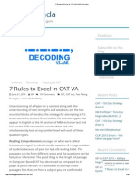 7 Rules to Excel in CAT VA _ GP Ka Funda