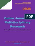 Online Journal of Multidisciplinary Research, Vol 1(2)