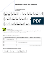 Easy n Fun Rhythm Worksheet