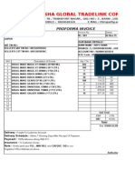 Proforma Invoice 001