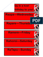 maori days of the week
