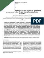 A Diffusion Chemisorption Kinetic Model for Simulating Biosorption Using Forest Macrofungus Fomes Fasciatus