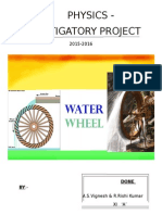 Water Wheel Report