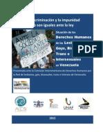 Informe Situacion de Los DDHH de Personas LGBTI en Venezuela CIDH Marzo 2015