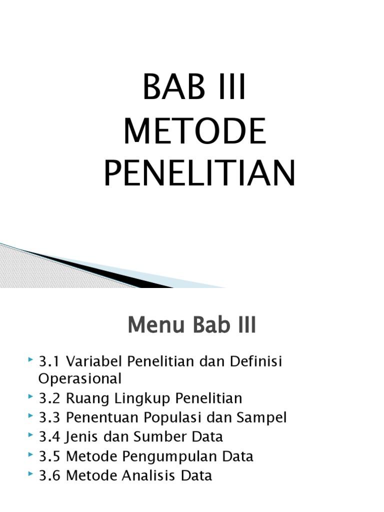 Bab Iii Skripsi Manajemen Pemasaran The Presentation