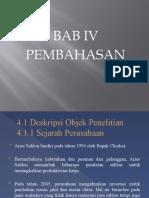 BAB IV Skripsi Manajemen Pemasaran