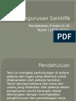 Topik 2 - Teori Pengurusan Saintifik Taylor