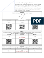 QR Code Defuse the Bomb - Pythagoras - Answers