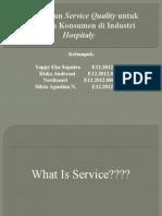 Membangun Service Quality Untuk Kepuasan Konsumen Di Industri