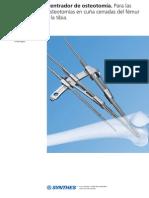 Centrador de Osteotomia en Cuña Cerrada de Fémur y Tibia