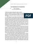 Heylighen - Five Questions on Complexity.pdf