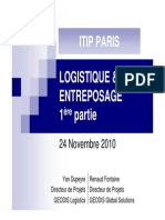 Logistique d Entreposage Partie 1 Introduction 24nov2010 1291286070802