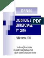 Logistique d Entreposage Partie 1 Introduction 24nov2010 1291286070802