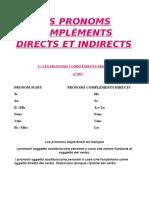 Les Pronoms Compléments Directs Et Indirects