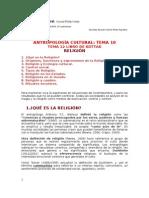 Tema 10, RELIGIÓN, Tema 12 Libro de Kottak ANTROPOLOGÍA CULTURAL Mis Apuntes 14 Edición 2015