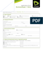 Business Super+Voice Application form