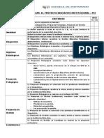 Criterios Para Analizar El Poyecto Educativo Institucional