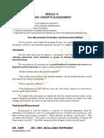 Module for assesstment